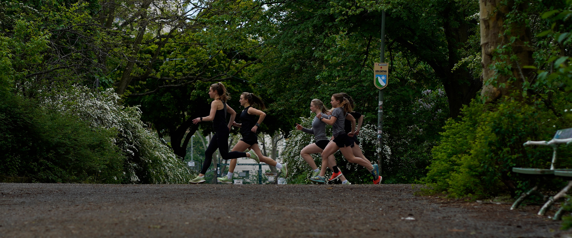the vision of running girls